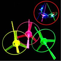 Wholesale Multi Color LED Flashing Flying Saucer Helicopter For Kids Toy Gift Children Fun Favor Cheer Items