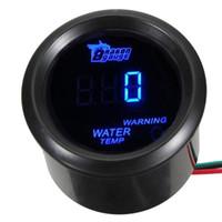 Wholesale 2 quot mm Black Car Motor Digital Blue LED Water Temp Temperature LED Gauge Meter