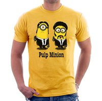 adult short fiction - PULP MINION FICTION Printed T Shirt Men s Short sleeve Custom T shirt New Adult Size S XL Cotton