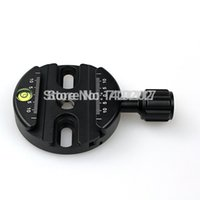 Wholesale ARCA Swiss P0 Ball Head Compatible Round Circular QR FSC mm circular Clamp w Spirit Level for Tripod Monopod