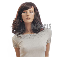 africa america - Sale New womens Sexy Kinky Curly Hair Brown Wigs for America Africa Black Women wigs