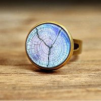 african american art - RC131 Tree Ring ring Blue Tree Jewelry Nature Art ring
