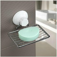 Wholesale Strong Sucker Home Bathroom Shower Accessory Wall Soap Holder Dish Tray Basket