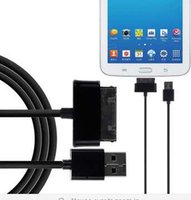 Wholesale 1M FT M FT USB Data Sync Charging Cable For Samsung Galaxy Tab P3100 P3200 P5100 N8000 P1000 P7500 P6800 P7500 Tab2 Tab3 Note