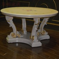 dining table - european antique furniture royalty handcraft classic dining table
