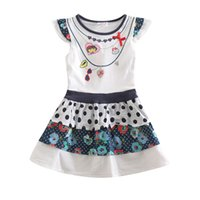 Wholesale Zoo Party dora Girls Dress Fall Korean version of the new children s cartoon children dress factory outlets