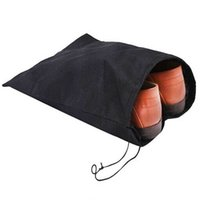 Wholesale Non woven Shoe Drawstring Travel Storage Shoe Dust proof Tote Dust Bag Case Black White Pouch Tote Bag Dust proof Shoe