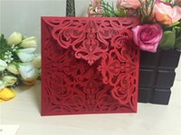 Wholesale Laser Cut Wedding Invitations White Paper Black Wedding Invitation Card Flowers Hollow Wedding Cards A