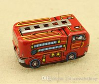 Wholesale Mini Cute Children s Toys for Kids Nostalgic Vintage Handmade fire engine iron Toys for Kids collection