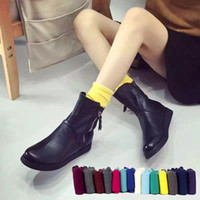 ankle extension - Japanese super popular candy colored cotton thin cotton socks relent piles of stockings in tube magazine style creative extension