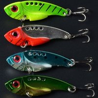 Wholesale Fishing Lure Blade CM G Metal VIB Hard Bait Bass Walleye Crappie Minnow Fishing Tackle