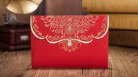Photo Booth Props elegant wedding invitations - Chinese Red Wedding Invitations Cards Free Printing Wedding Invitations Elegant Chinese Traditional Customized Invitations Cards Supplier
