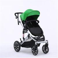 aircraft grade aluminium - Luxury strollers High Chair Foldable Baby Carriage Aircraft grade Aluminium Frame High Landscape kinderwagen In