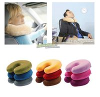 Wholesale Memory Foam Travel Cervical Neck Pillow U Shape Car Auto Bus Train Airplane Neck Pillow Reading Pillow