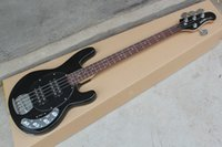 bass guitar active pickups - Standard Strings Music Man StingRay string black Electric Bass guitar with V Battery active pickups