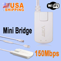 Wholesale US STOCK US Stock Vonets Mini Wireless WiFi Wi Fi Finders Adapter Bridge Repeater M for STB IPTV Sky Box X BOX Computer Network