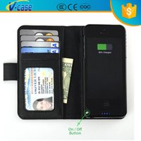 Cheap wallet battery case for iphone 5 Best 2 in 1 Folio Leather Wallet Case
