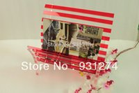 Wholesale folding acrylic book holder multicolored lucite magazine rack Eco friendly book basket retail and