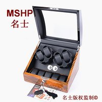 Wholesale Multiple layers of high goss piano lacquer finish Watch Winder Box Wooden Battery Power Automatic easily stop by opening the cover