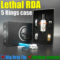 Wholesale New Lethal RDA Rings gift box case Mod Rebuildable Dripping Atomizer Mechanical vape Mods e cig electronic cigarette RBA ego atomizers