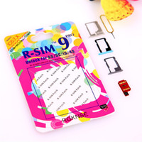 Wholesale For iPhone S G C S G R SIM RSIM9 R SIM9 Pro Perfect SIM Micro Nano Card Unlock Officia