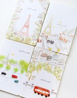 Wholesale Eiffel Design x210mm A5 size NoteBook Lovely Diary Book designs