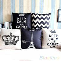 Wholesale Retro Home Decorative Cotton Linen Blended Pillow Cover Crown Throw Pillow Case PX7