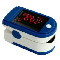 Wholesale New CE FDA LED Finger Pulse Oximeter JPD B Blood Oxygen Saturation SpO2 Portable Oximetro Health Care Monitor