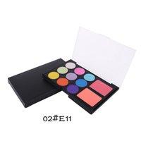 best beautiful eyes - 12 Color Beautiful Makeup Kits Color Eye Shadow Best Professional Makeup Kits Transparent Case Face Makeup Sets for Ladies E11