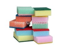 Wholesale melamine sponge kitchen cleaning home accessories magic sponge Eco Friendly Colored Pack of