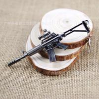 anime desert - Weapon Gun Model Alloy Key Ring Desert Storm Model Key Chain Anime Action Figure Toys Gift For Adults Men Kids Birthday Present