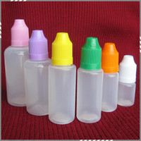 10ml 20ml 30ml 50ml 15ml bottles - 5ml ml ml ml ml ml Plastic Bottle with Needle Cap Empty Dropper Bottle with Ecig Child Proof Cap Needle Cap Factory Price DHL free