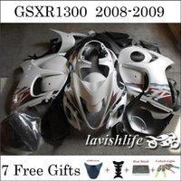 Wholesale Glossy White Black Motor Fairing Kit Racing Cowling Kit For SUZUKI GSXR1300 Hayabusa ABS Injection Bodywork Custom Gifts