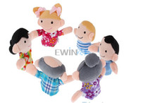 Wholesale Hot Selling set sets Baby Kids Plush Cloth Play Game Learn Story Family Finger Puppets Toys Set