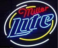 beer miller lite - New Miller Lite Real Glass Neon Sign Light Beer Bar Arts Crafts Gifts Sign quot X14 quot