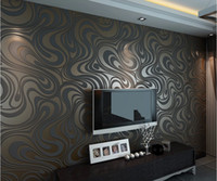 Wholesale High quality m m Modern Luxury d wallpaper roll mural papel de parede flocking for striped wall paper color R136