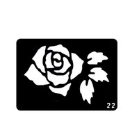 beautiful rose tattoos - New Style Piece Rose Flower Tatoo Template Reusable Airbrush Stencil So Beautiful Plant Art Body Henna Tattoo Templates T33 DD