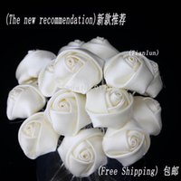 Wholesale Ivory Rose Flower Hair Pins Clips Wedding Bridal Women Hair Jewelry