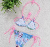 Wholesale 2014 frozen kids lovely bikini children summer swimwear princess elsa anna girls cartoon swimsuit