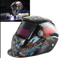 Wholesale Welding Helmet Mask Solar Auto Darkening Welding Helmet Arc Tig Mig Mask Weld Welder Lens Grinding Mask Black Hawks