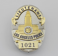 antique police lights - The Losangeles police inspector LAPD LIEUTENANT badge badge badge three dimensional combination structure