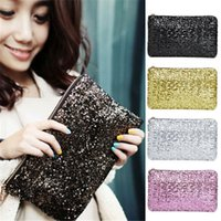 ladies fashion evening bags - New Arrivals Women Ladies Evening Party Handbag Bag Clutch Purse Sparkling Sequin Fashion AX134