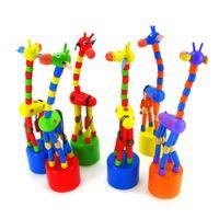 baby rock stars - New Arrival Baby Kids Wooden Toys Developmental Dancing Standing Rocking Giraffe Gift Toys Multi Color