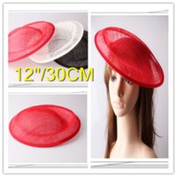 Wholesale CM sinamay fascinator base big size sinamay hats DIY fascinator hair accessories cocktail hats pieces