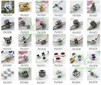 bulk european bead - Tibetan Silver Alloy Beads Charms Pendant Fit European Bracelets Making Mixed styly in Bulk
