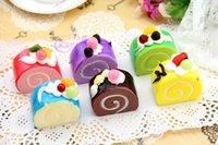 animal shaped cakes - 30pcs rare squishy bun cake cm cm Fridge Magnets slow rising squishies ice cream cake with Fruit mix color order