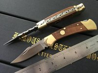 Wholesale NEW CNC Buck Double Action Knife Conversions Camping folding knife EDC