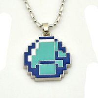 Wholesale Minecraft Licensed Crafting Gaming Diamond Pendant Necklace