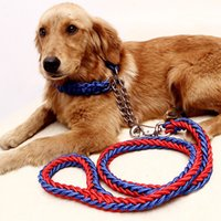 Chirstmas big dog collars and leashes - 2015 new Strong Weave Dog Ropes Middle And Big Dog Chain Durable Pet Lead Leash With Collar Pet Leashes CW
