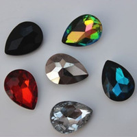 Wholesale 30PCS mm Glass Crystal Rhinestone Tear Drop Point back Faceted Glass ZZ145